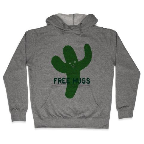 Free Hugs Cactus Hooded Sweatshirt