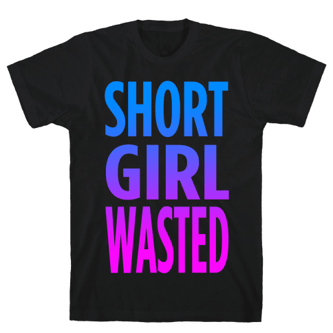 Short Girl Wasted (tank) Mens T-Shirt