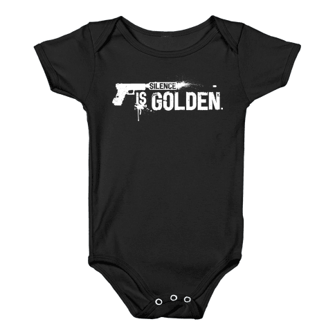 Silence is Golden Baby Onesy