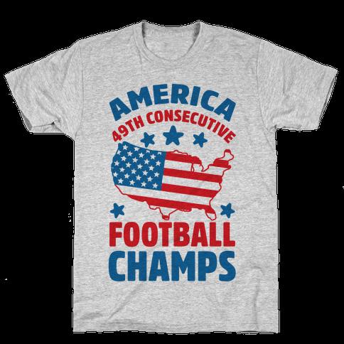 America: 49th Consecutive Football Champs Mens T-Shirt