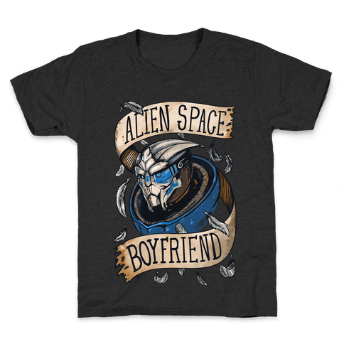 Alien Space Boyfriend Garrus Parody Kids T-Shirt