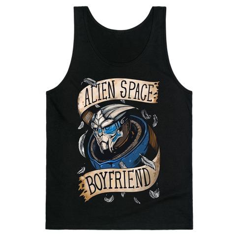 Alien Space Boyfriend Garrus Parody Tank Top