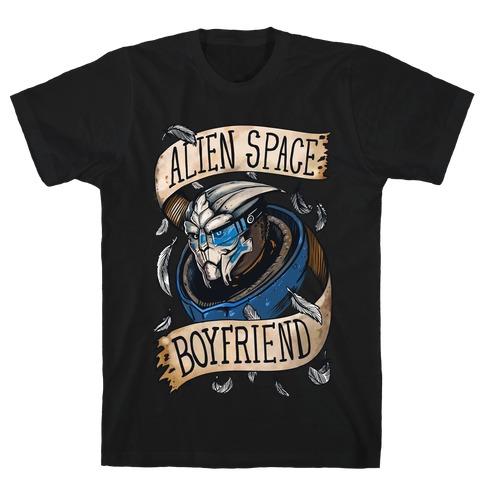 Alien Space Boyfriend Garrus Parody T-Shirt