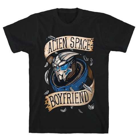 Alien Space Boyfriend Garrus Parody Mens T-Shirt