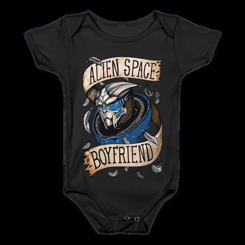 Alien Space Boyfriend Garrus Parody Baby Onesy