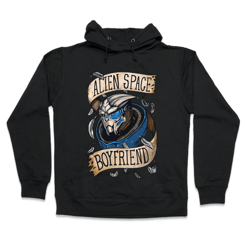 Alien Space Boyfriend Garrus Parody Hooded Sweatshirt