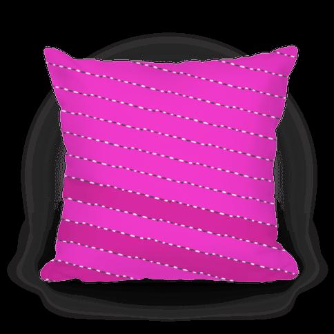Pink Diagonal Dashed Stripes Pattern