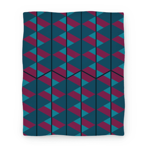Triangle Pattern Blanket (Dark) Blanket