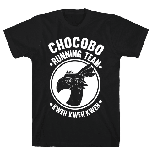 Chocobo Running Team Kweh! Mens T-Shirt