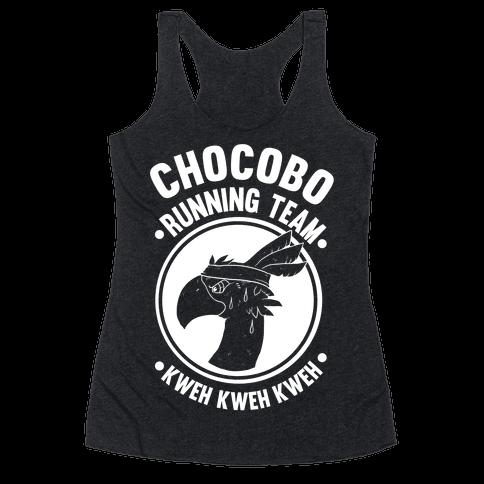 Chocobo Running Team Kweh! Racerback Tank Top