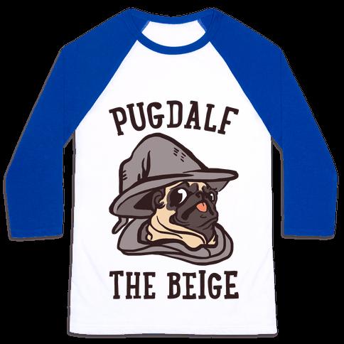 Pugdalf The Beige Baseball Tee