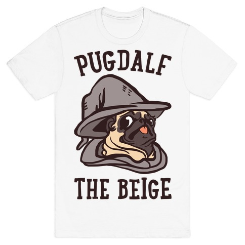 Pugdalf The Beige T-Shirt
