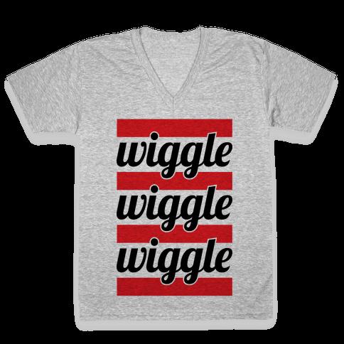 Wiggle Wiggle Wiggle V-Neck Tee Shirt