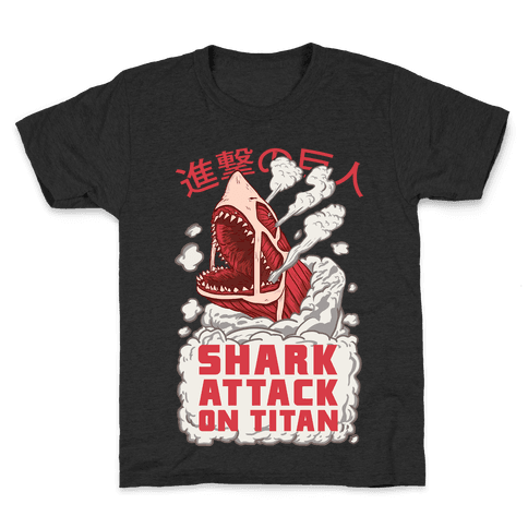 Shark Attack On Titan Kids T-Shirt