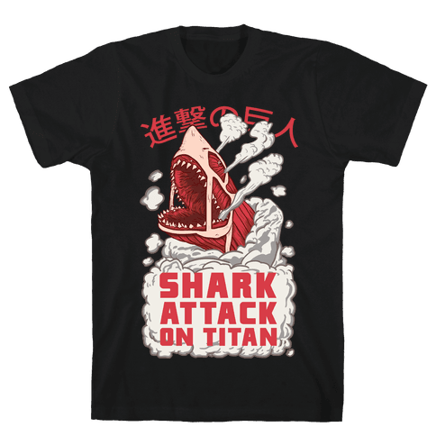 Shark Attack On Titan Mens T-Shirt
