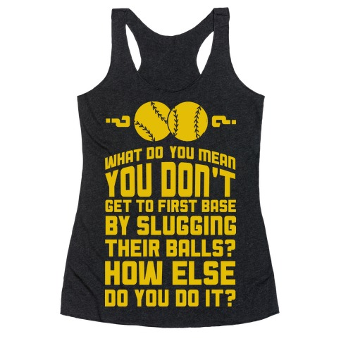 First Base Racerback Tank Top