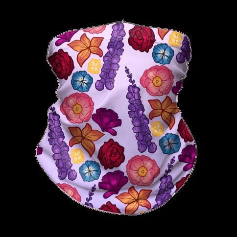 Flowery Pattern Neck Gaiter