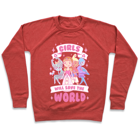 Zelda Girls Will Save The World Parody Pullover