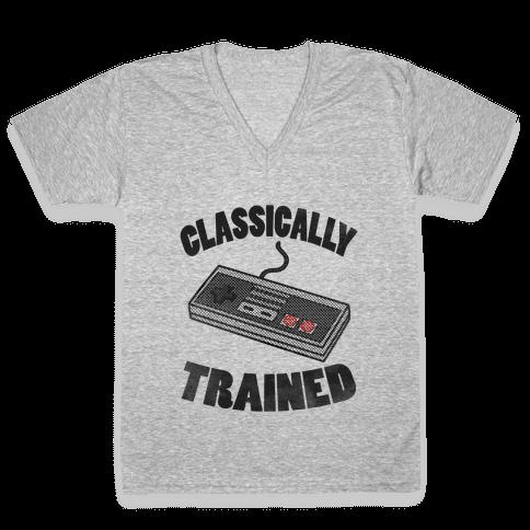 I'm Classically Trained V-Neck Tee Shirt