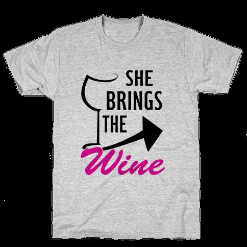 She Brings the Wine Pt.1 (Tank) Mens T-Shirt