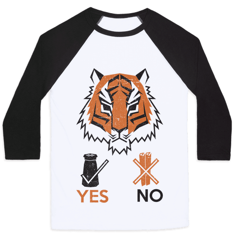 Tigers Hate Cinnamon Baseball Tee