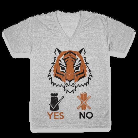 Tigers Hate Cinnamon V-Neck Tee Shirt