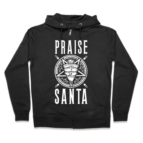 Praise Santa Zip Hoodie