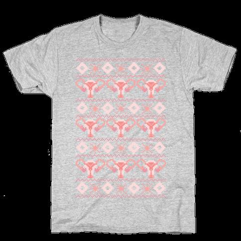 Cuterus Uterus Pattern Mens T-Shirt
