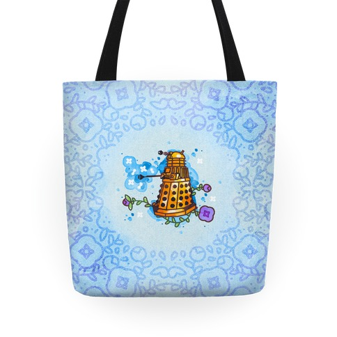 Watercolor Doctor Who Icon (Dalek) tote