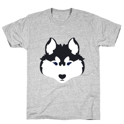 Siberian Husky Face Mens T-Shirt