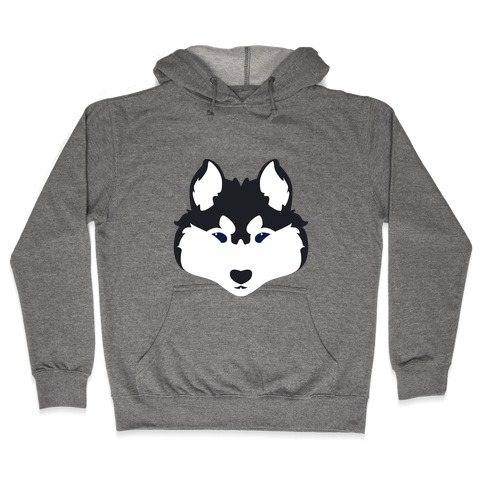 Siberian Husky Face Hooded Sweatshirt