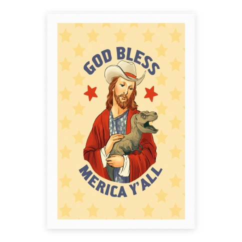 God Bless Merica Y'all Poster