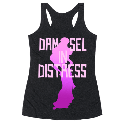 Damsel In Distress Racerback Tank Top