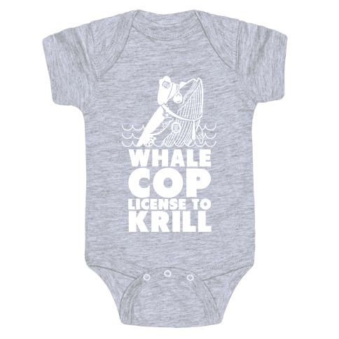 Whale Cop Baby Onesy