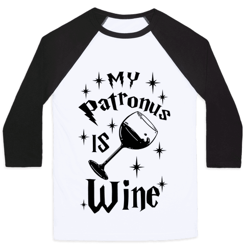 My Patronus Is Wine Baseball Tee