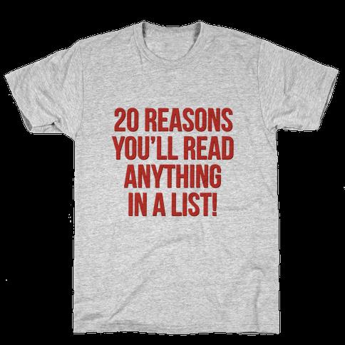 20 Reasons Mens T-Shirt