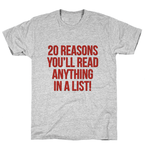20 Reasons Mens T-Shirt