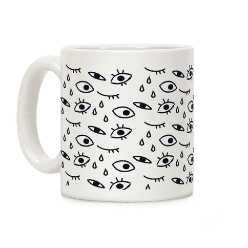 Creepy Eyes (Dark) Coffee Mug