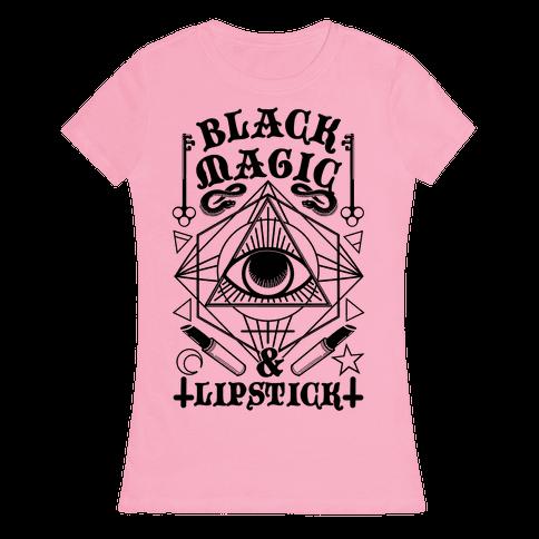 Black Magic & Lipstick Womens T-Shirt
