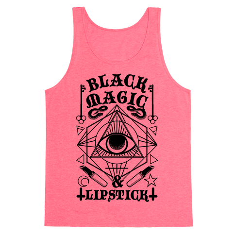 Black Magic & Lipstick Tank Top