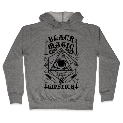 Black Magic & Lipstick Hooded Sweatshirt