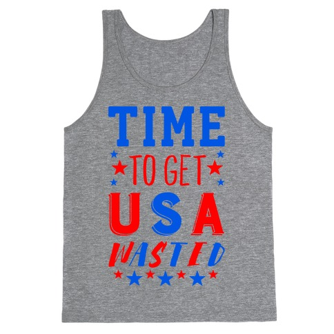Time to Get USA Wasted Tank Top