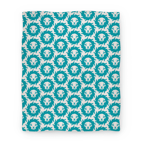 Lion Pattern Blanket (Blue)