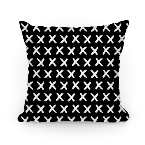 Black Criss Cross Pattern Pillow
