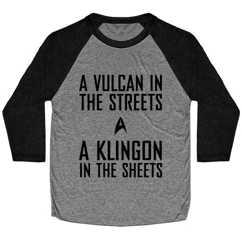 A Vulcan In the Streets Baseball Tee