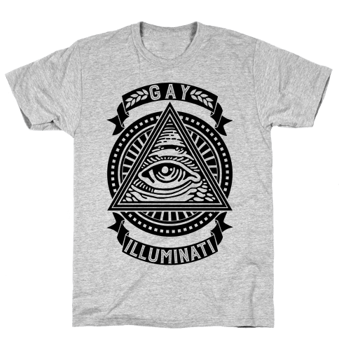 Gay Illuminati Mens T-Shirt