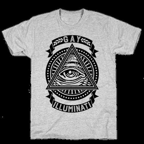 Gay Illuminati Mens T-Shirt