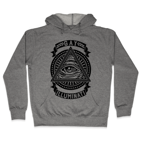 Gay Illuminati Hooded Sweatshirt