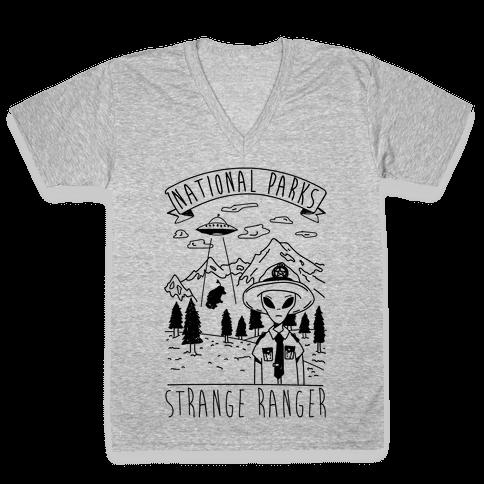 Strange Ranger V-Neck Tee Shirt