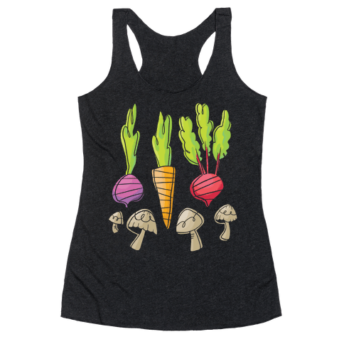 Retro Vegetable Pattern Racerback Tank Top